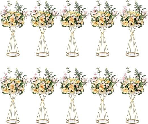 Nuptio 10 Piezas de Metal Trompeta de Flores 50cm Altura Florero ...