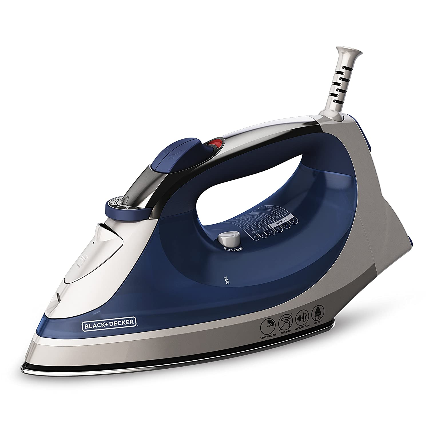 BLACK+DECKER Corded Xpress Steam Iron, Blue, IR08X Spectrum Brands