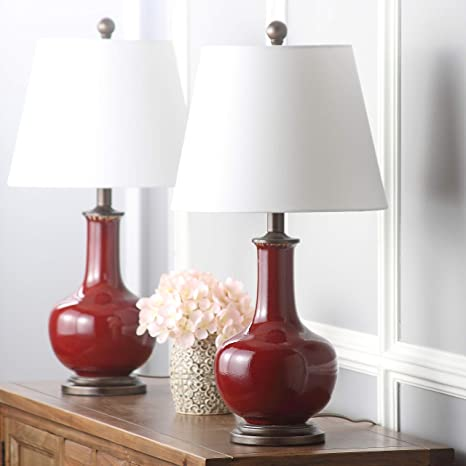 Safavieh Lighting Collection Carolanne Red 25-inch Table Lamp (Set of 2)