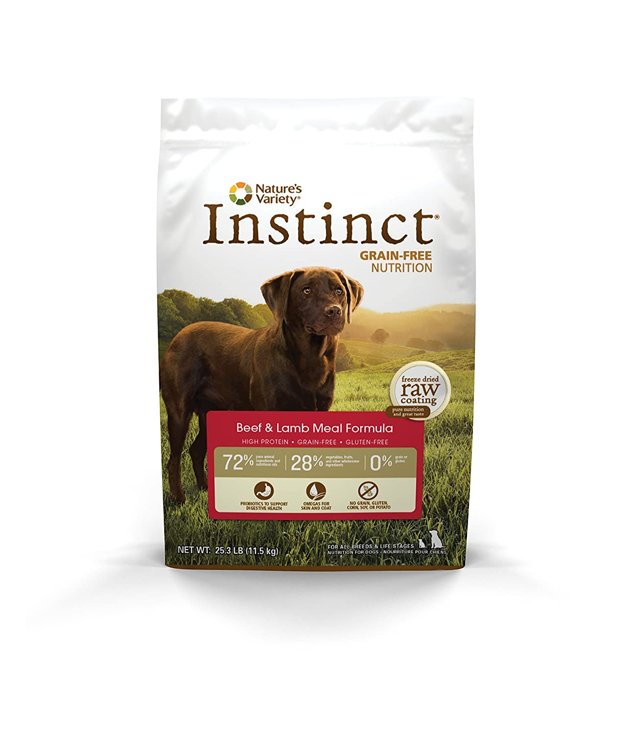 Nature's Variety Instinct Grain-Free Dry Dog Food (Beef Formula)