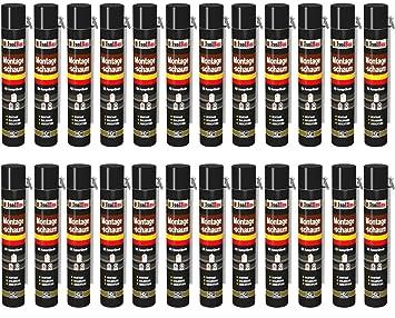 Espuma de montaje 24 lata 750 ml con aussprührohr 1 K Diseño Espuma de espuma de poliuretano adaptador Espuma: Amazon.es: Bricolaje y herramientas