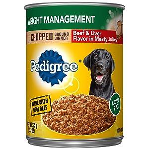 Pedigree Weight Management Adult Wet Dog Food, 13.2 Oz. Cans
