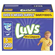 Luvs Ultra Leakguards Diapers, Size 5, 228 Count