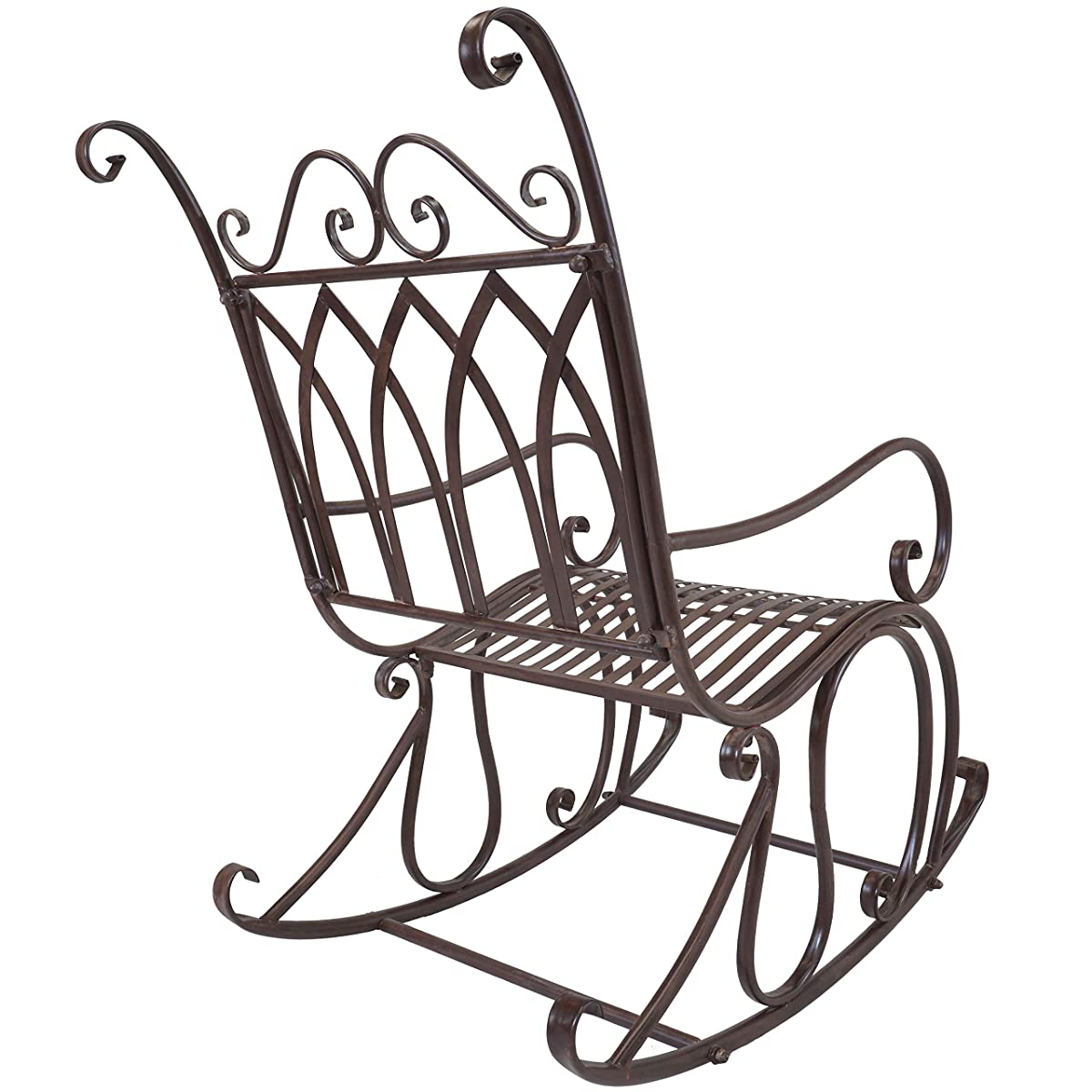 Titan Outdoor Metal Rocking Chair Porch Patio Garden Seat Deck Decor