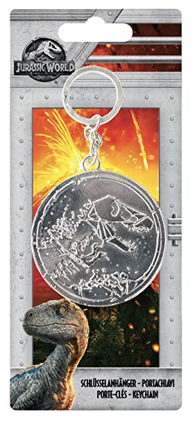 Jurassic World 75452 Metal Llavero con Relieve en backercard 7,5 x 0,5 x 17,5 cm 7