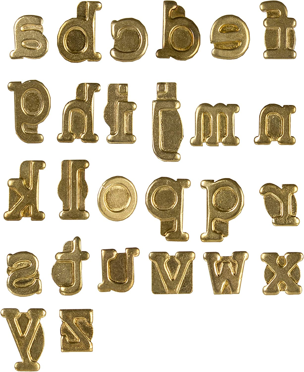 Multicolour Walnut Hollow Hotstamps Lowercase Alphabet Branding and Personalization Set for Wood and Other Surfaces 5x8x0.5 cm Acrylic