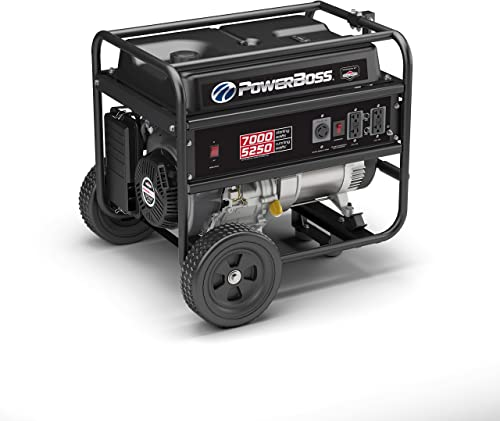 PowerBoss 30660, 5250 Running Watts 7000 Starting Watts, Gas Powered Portable Generator