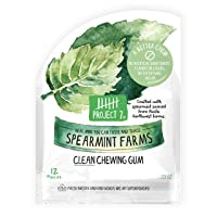 Project 7 Clean Gum Spearmint Farms | Long Lasting, Vegan, Non-GMO, Aspartame Free, Sugar-Free & Low Carb | 12 packs (144 pieces)