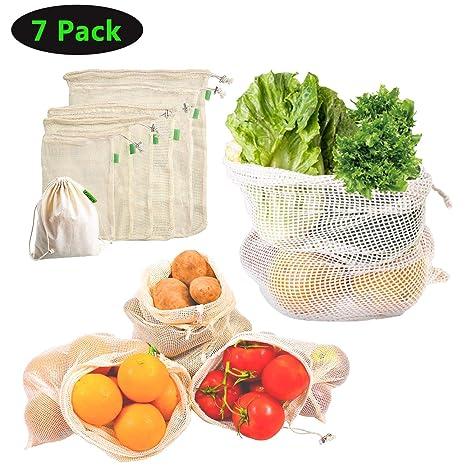 yicutte reutilizables fruta funda, red de fruta y verdura ...