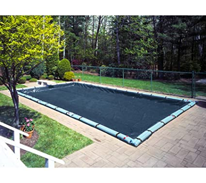16 \'x 36\' Deluxe Rectangle In-ground Swimming Pool Winter Cover w/water  tubes