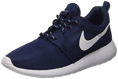the latest 7cf25 0cb3f Nike Wmns Roshe One, Zapatillas de Deporte para Mujer, Azul (Midnight  Navy/White), 36 1/2 EU: Amazon.es: Zapatos y complementos