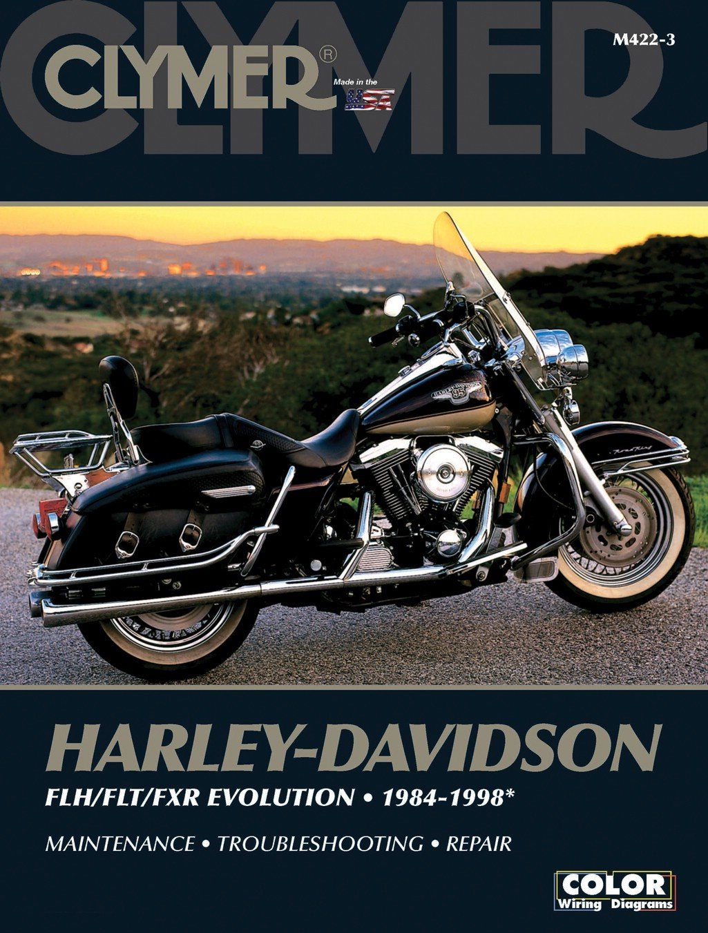 Clymer Manual Harley Davidson Flhfltfxr Evolution 84 98 Each Flh Wiring Diagram Car Motorbike