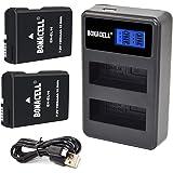 Bonacell EN-EL14 Paquete de 2 baterías y cargador LCD dual Compatible con Nikon D5600 D5500 D5300 D5200 D5100 D3500 D3400 D3300 D3200 D3100 Df Coolpix P7800 P7700 P7200 P7100 P7000