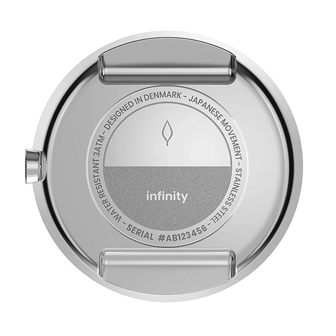 Nordgreen Infinity - Reloj analógico de Cuarzo Plateado para Mujer, 36 mm, diseño escandinavo Plateado Silver Mesh Strap 32mm: Amazon.es: Relojes