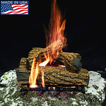 Amazon Com Myard 15 Inches Country Oak Fire Vented Gas Logs Logs