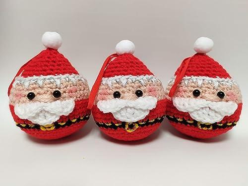 Preferenza Set 3 palle di Natale con babbo Natale. decorazioni natalizie VC32