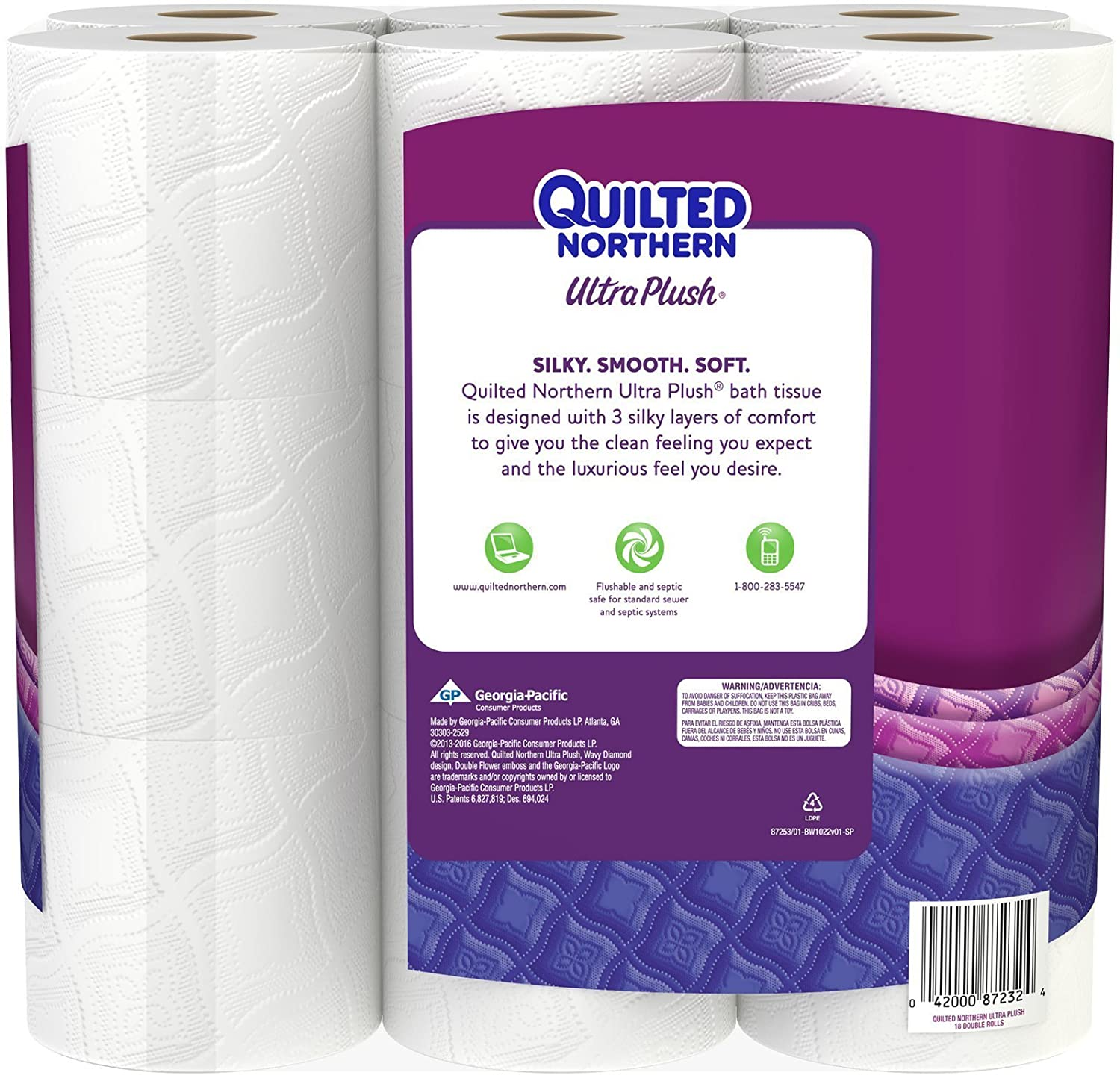 Quilted Northern Ultra Plush Double Rolls, 18 Count