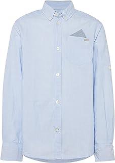 TOM TAILOR für Jungen Blusen, Shirts & Hemden Hemd mit Turn-Ups Shirts & Hemden Hemd mit Turn-Ups Brunnera Blue 164