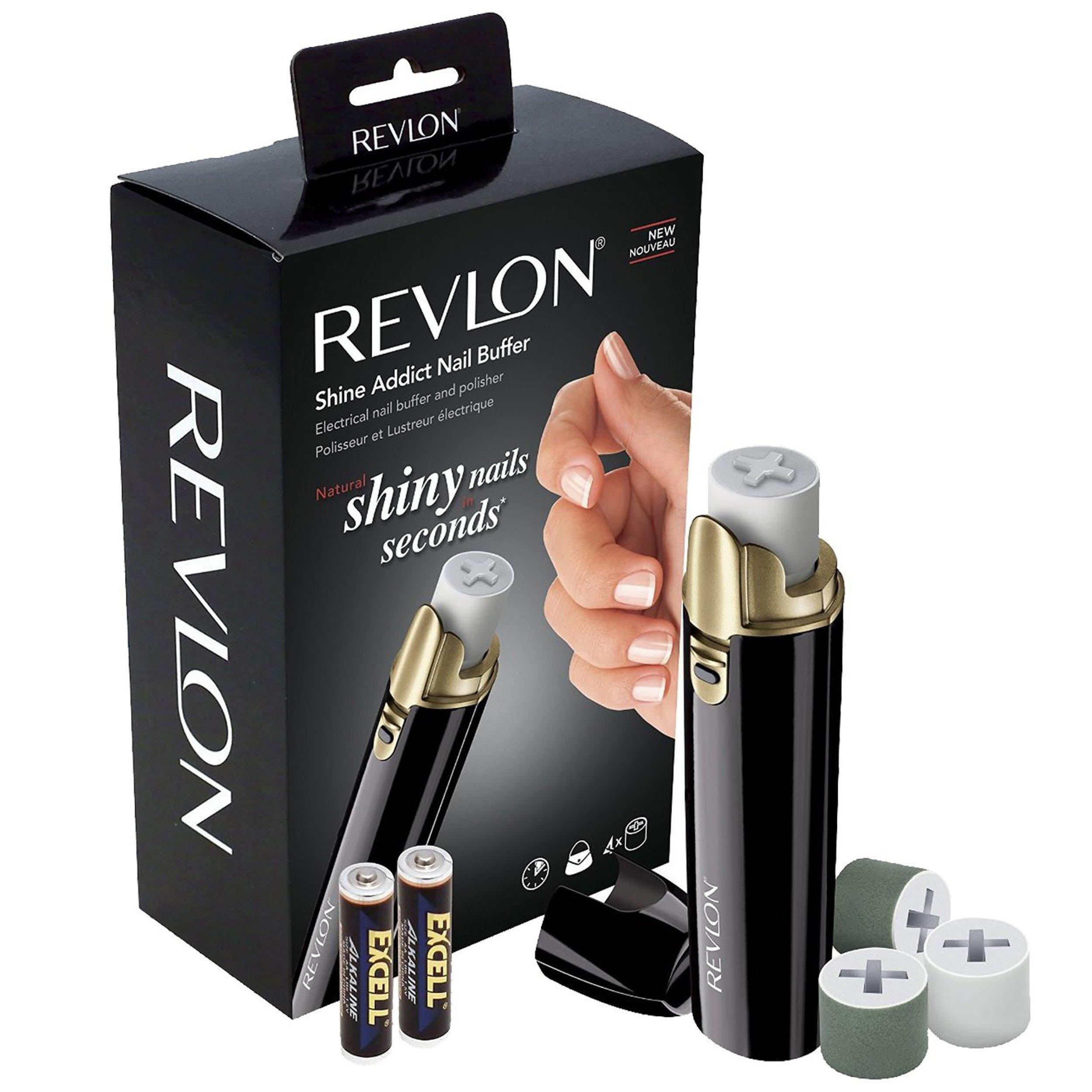 Revlon Battery Powered Shine Addict Nail Buffer & Polisher (Shine Nail Buffer)