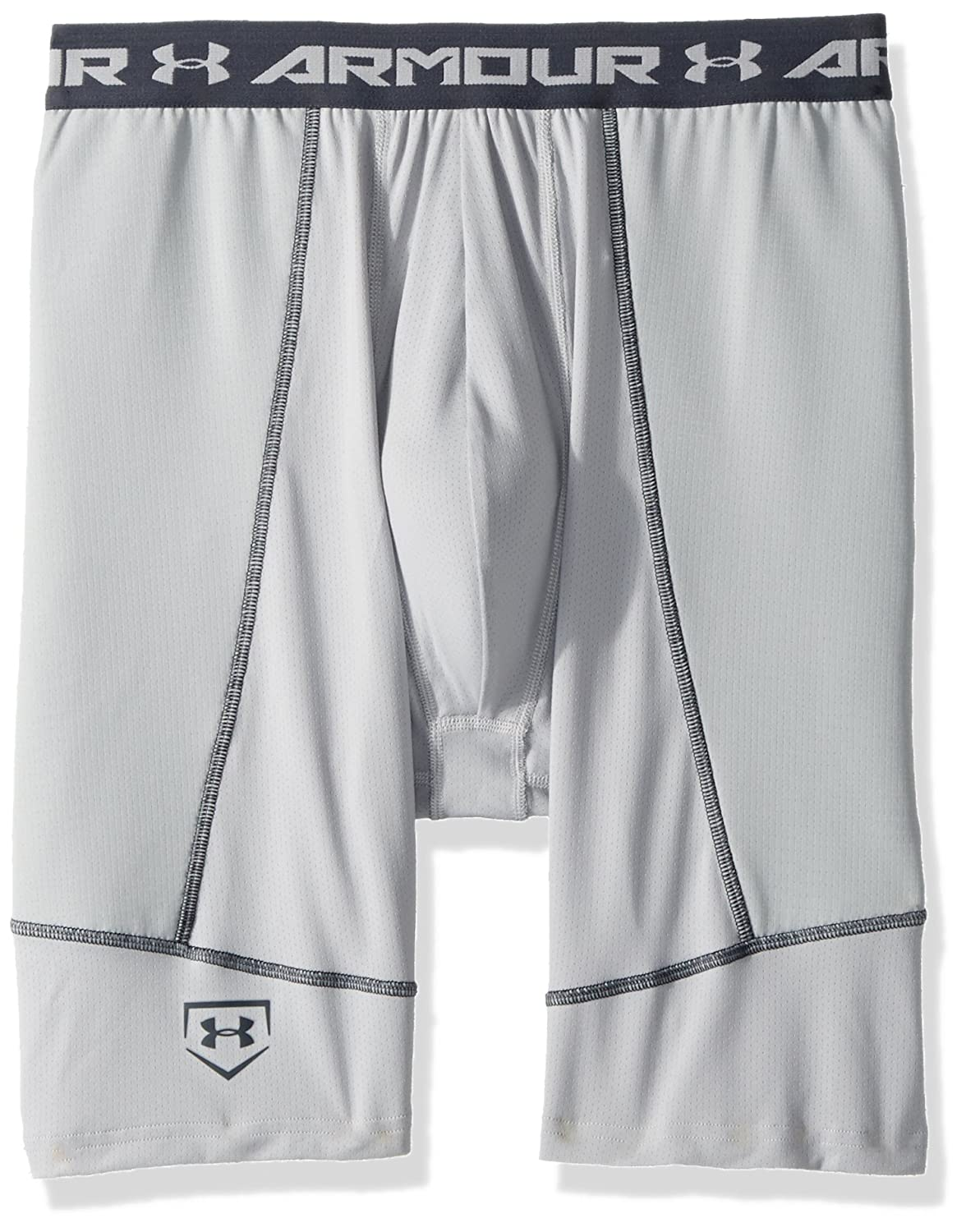Under Armour Boys 'スライダwith Cupソリッド B01M6Z91DM Youth Small|Baseball Gray/Stealth Gray Baseball Gray/Stealth Gray Youth Small