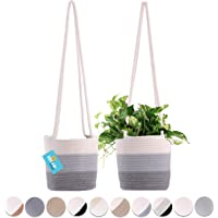 Set of 2 Hanging Rope Planter Baskets 8