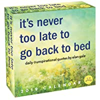 Unspirational 2019 Calendar: It's Never Too Late to Go Back to Bed