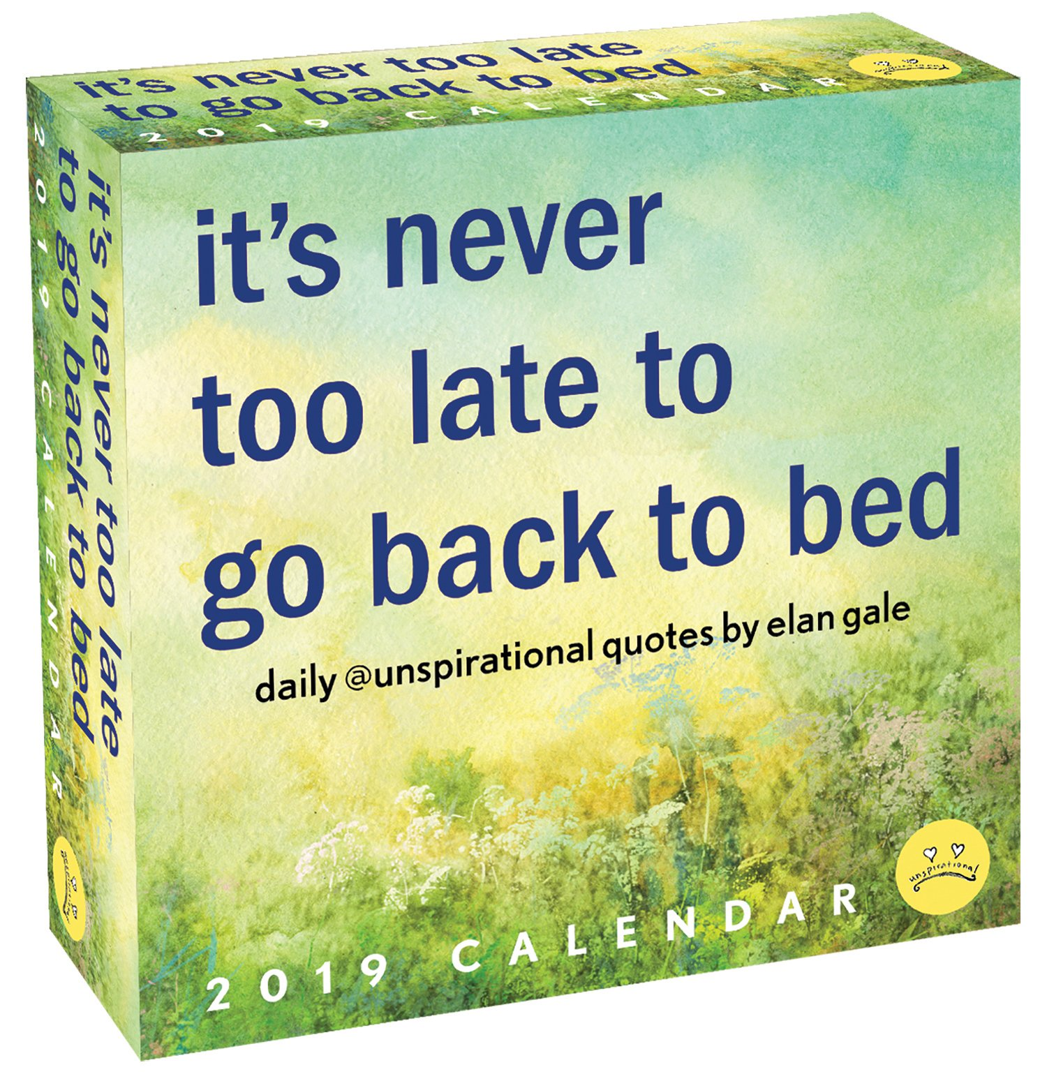 Unspirational 2019 Day To Day Calendar Its Never Too Late To Go