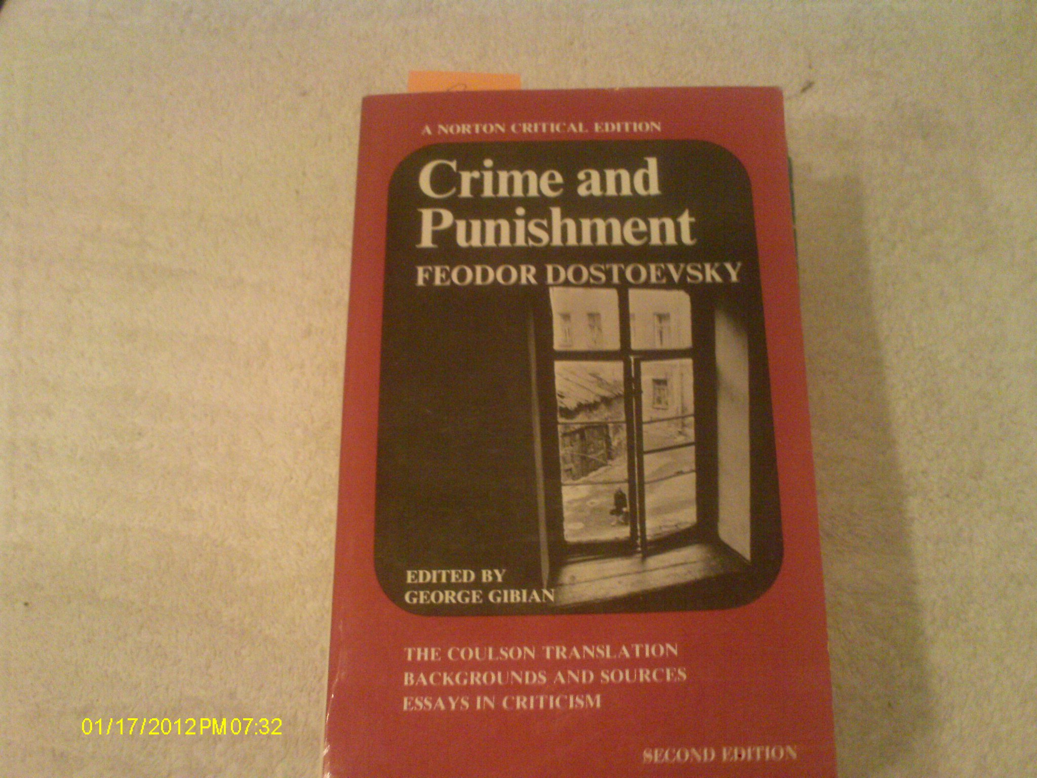 crime and punishment the coulson translation backgrounds and  crime and punishment the coulson translation backgrounds and sources essays in criticism a norton critical edition feodor dostoevsky george gibian