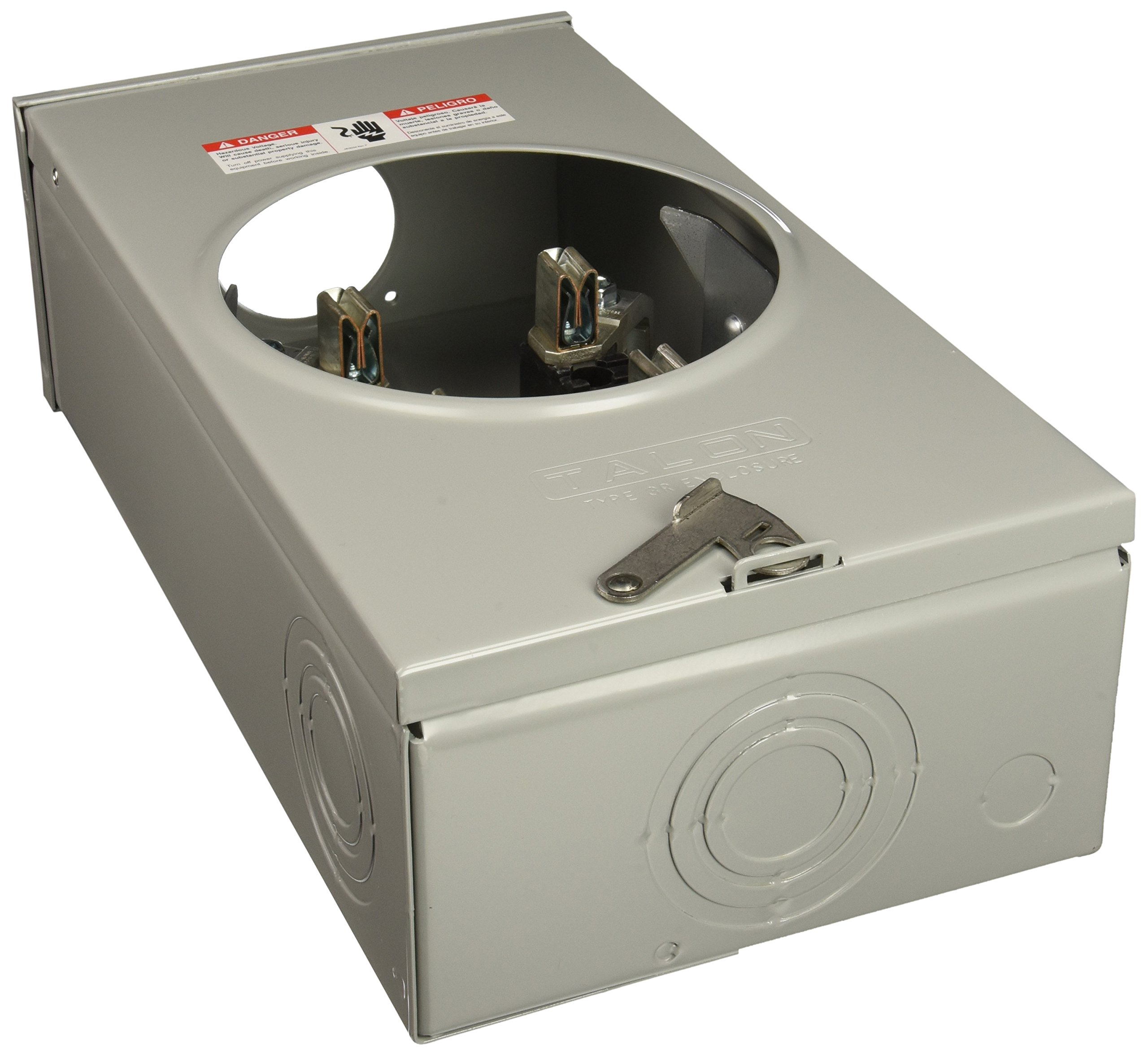 Siemens SUAT317-0G 200-Amp, 4 Jaw, Ringless Cover, Overhead Feed, Meter Socket