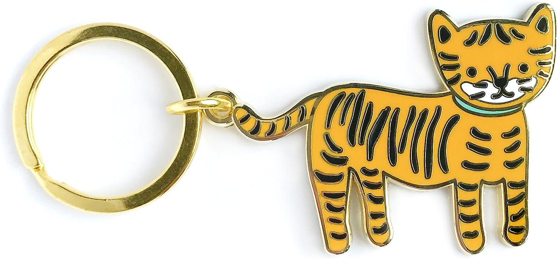 Night Owl Paper Goods Enamel Keychain, Gold