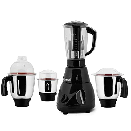 ANJALIMIX Juicer Mixer Grinder Avion 750 Watts with 4 Jars (Black), Dry, Wet, Chutney, Filter JUICER
