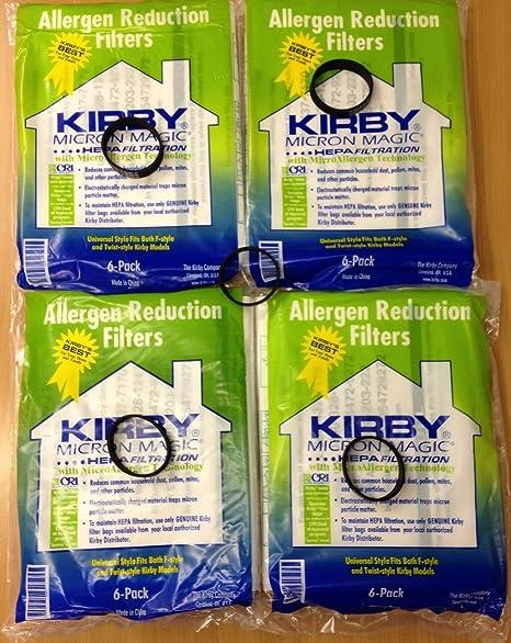 Kirby Universal bolsas: 4 paquetes (24 bolsas) de paño ...