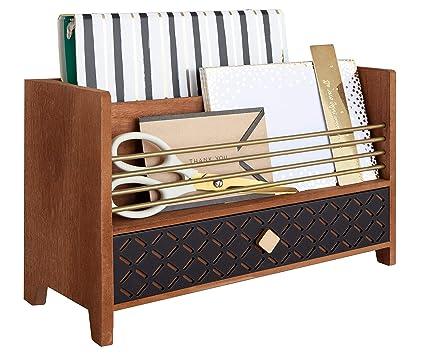 Blu Monaco Letter Sorter Mail Organizer - Desktop Organizer with Drawer -  Antique Gold Brass Finish - Amazon.com: Blu Monaco Letter Sorter Mail Organizer - Desktop
