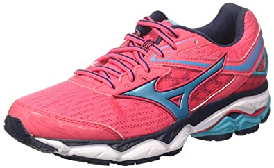 2b5231af6f9f Mizuno Women's Wave Ultima 9 WOS Running Shoes, Pink  (DivaPink/PeacockBlue/DressBlues