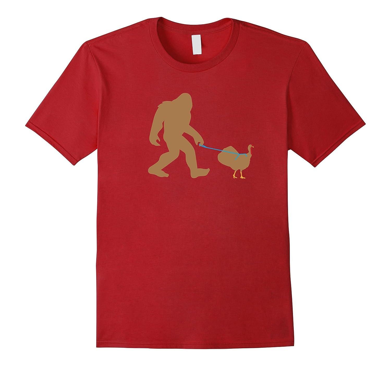 Bigfoot Thanksgiving Shirt, Funny Turkey Sasquatch Gift-ANZ