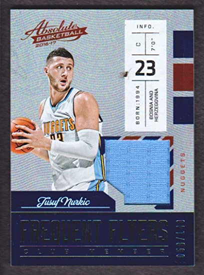 2016-17 Absolute Basketball Frequent Flyer Jersey  11 Jusuf Nurkic ... 5ccdb604d