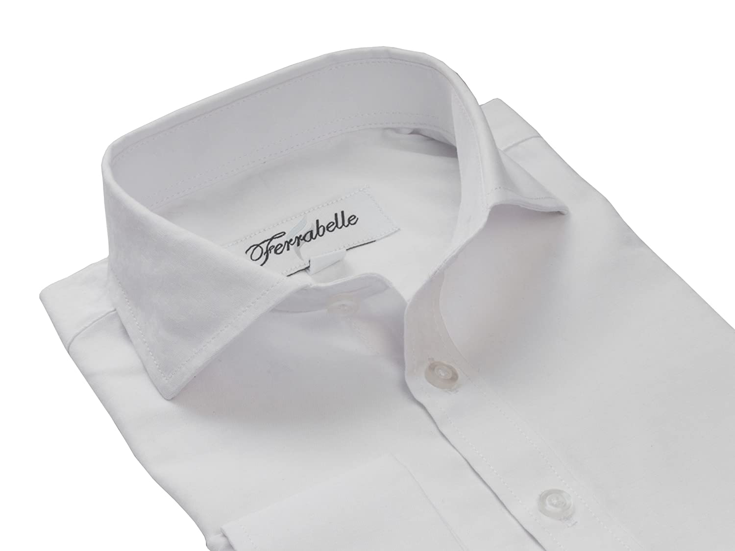 Comfortable 100/% Cotton Fashioned Spread Collar Boys Dress Shirts Long Sleeve and French Cuffs with Cufflinks Included