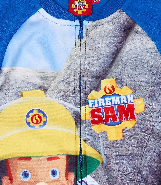 Feuerwehrmann Sam Jungen Jumpsuit Onesie blau