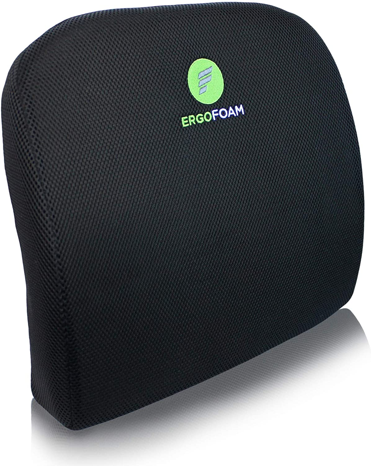 ErgoFoam Lumbar Support Pillow for Chair Premium Breathable Mesh Back Support for Office Chair Most Comfortable Lumbar Cushion in The World for Back Pain