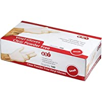 EDI Clear Powder Free Vinyl Glove,Disposable glove,Industrial Glove,Clear, Latex Free and Allergy Free, Plastic, Work, Food Service, Cleaning,100 gloves per box