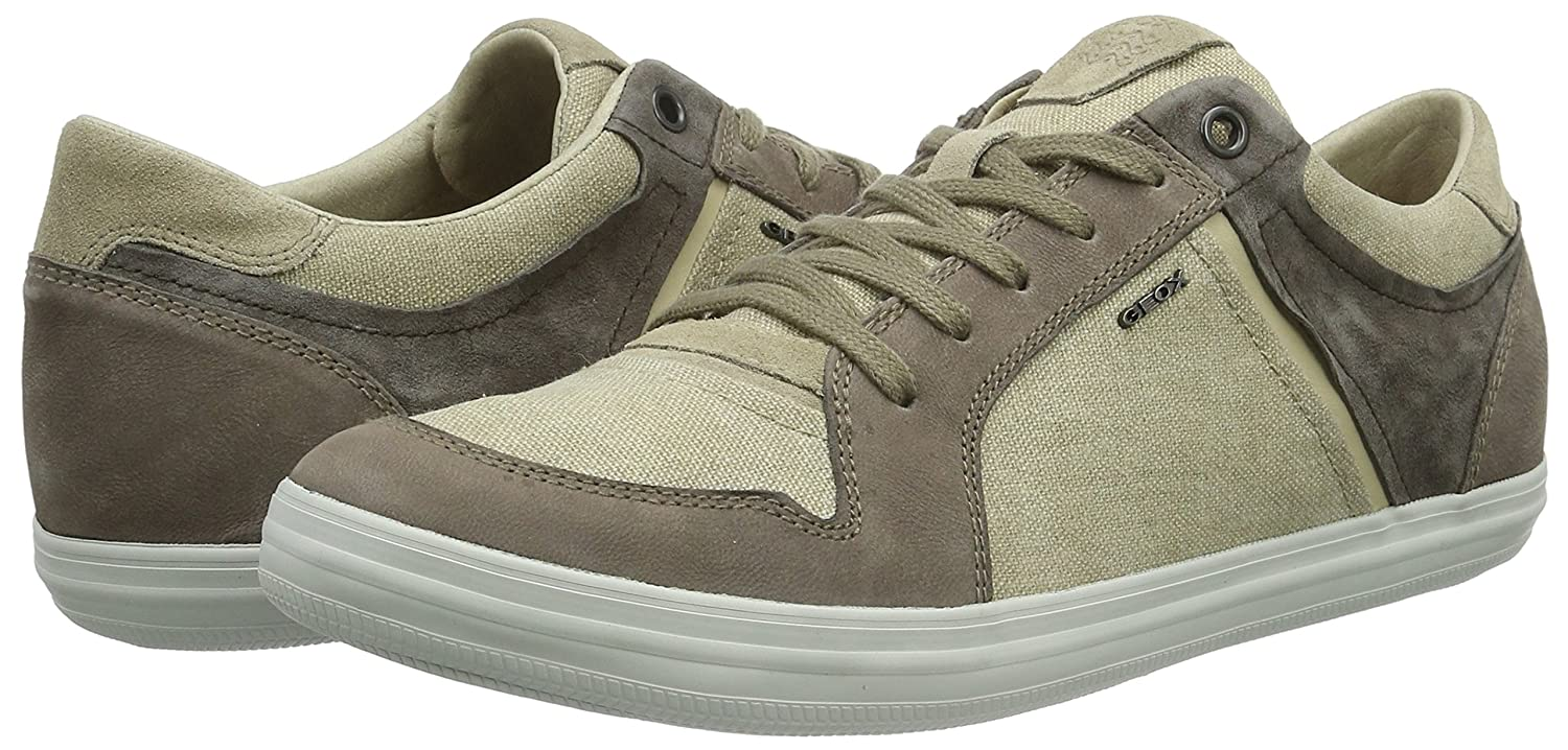 Geox U Box D, Sneakers Basses Homme - Multicolore (Sand/Dove GREYC5124), 42