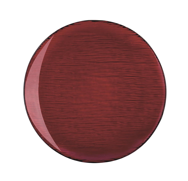 Excelsa Scratch Teller, Glas, Rot, 27.5x 27.5x 1.5cm