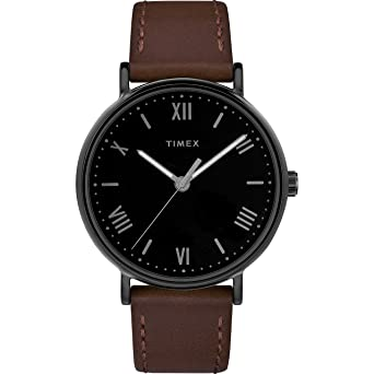 04c6c94ed Amazon.com: Timex Men's TW2R80300 Southview 41 Brown/Black Leather ...