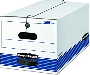 Bankers Box STOR/File Medium-Duty Storage Boxes, FastFold, String and Button, Letter, (00704)
