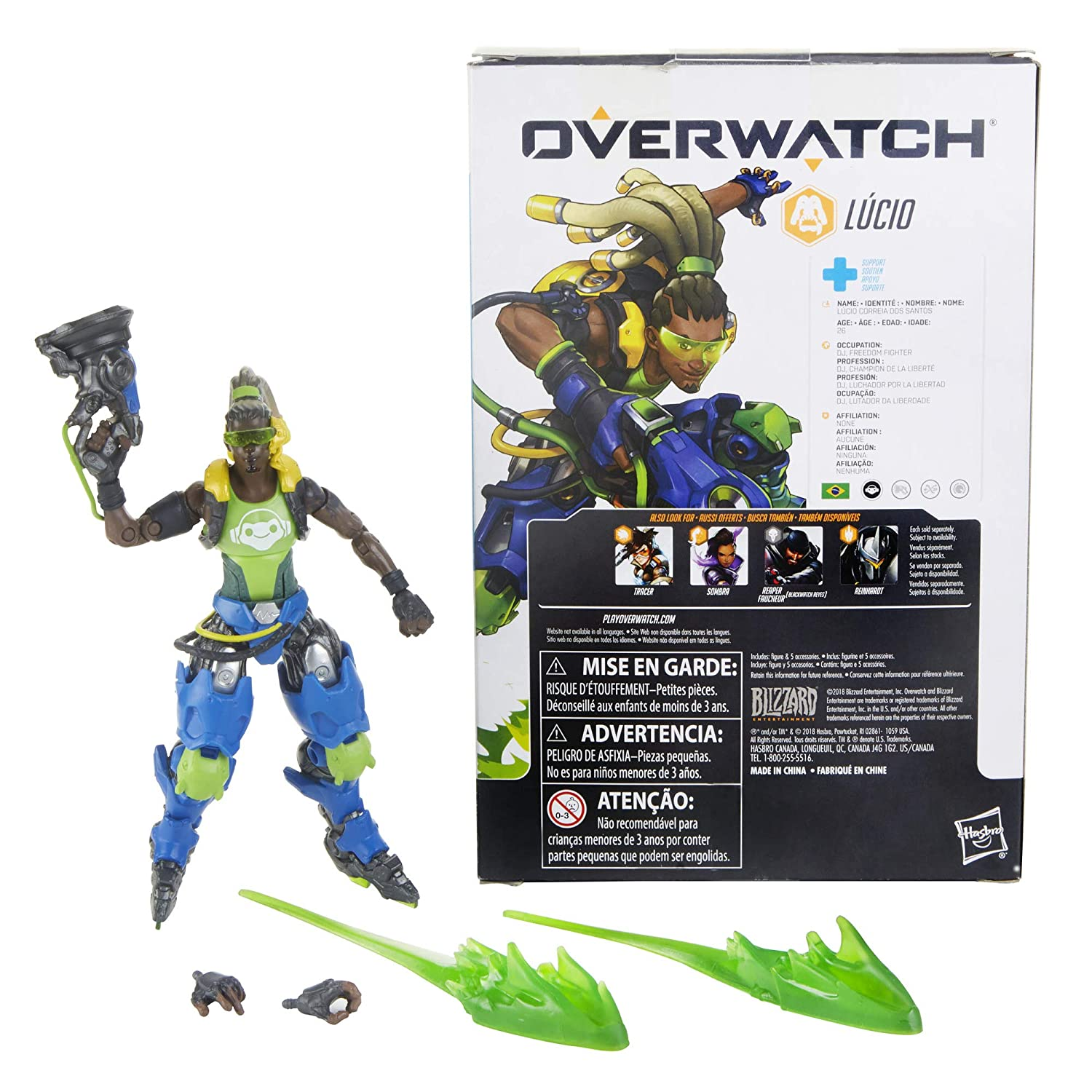 Amazon.com: Hasbro Overwatch Ultimates Series Lucio 6