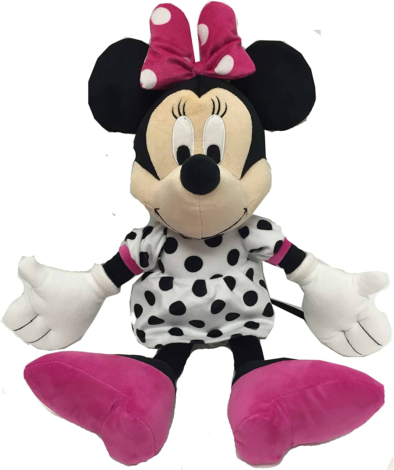 Super Soft Polyester Microfiber 21 inch Jay Franco Disney Minnie Mouse Classics Knit Plush Stuffed Pillow Buddy Knit Official Disney Product