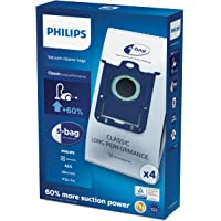 Philips FC8021/03 S-Bag Elektrikli Süpürge Torbaları, Beyaz, 4 Adet
