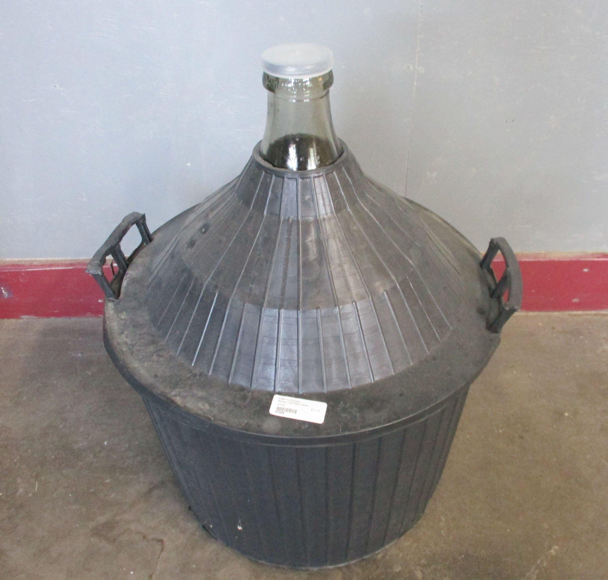 Demijon- 54 liter in a basket- 14 gallon w/handles