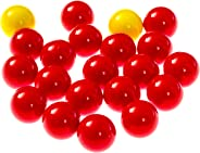 Hungry Hungry Hippos -Compatible Replacement Marbles - 21 Pieces (19 Red and 2 Yellow) - Perfect Replacement Game Balls - by