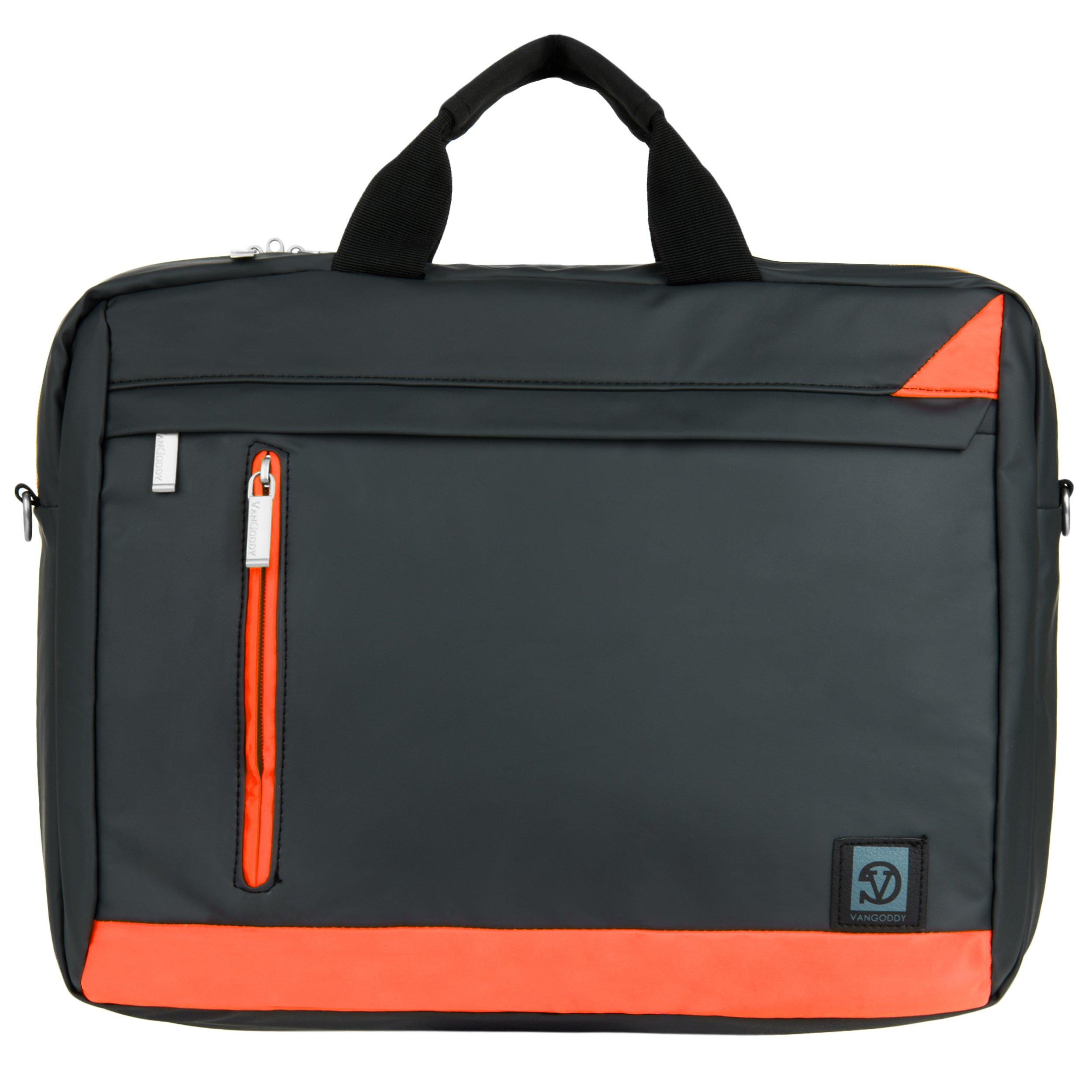 VanGoddy Adler Briefcase Messenger Bag for Dell 14 to 15.6-inch Laptops (Orange)